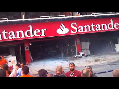 Incendio Box Williams F1 GP Santander 2012