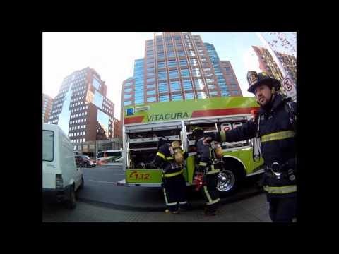 CHILE Simulacro de incendio en Torre Titanium