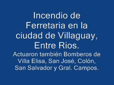 Incendio de Comercio / Villaguay, Provincia de Entre Ríos en Argentina / Vídeo Destacado de La Herm…
