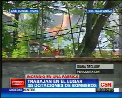 INCENDIO EN TIGRE/ IMAGENES DEL HELICOPTERO (EVACUARON VECINOS) / TIGRE, BUENOS AIRES EN ARGENTINA