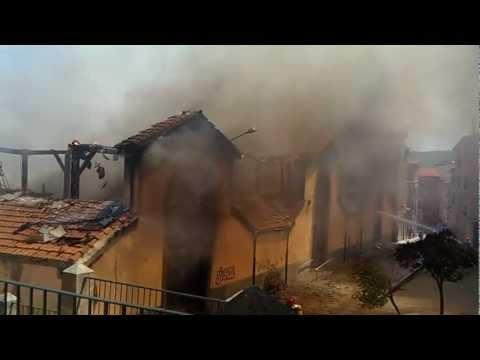 Incendio del Mercado de Abastos Reinosa / Cantabria en España
