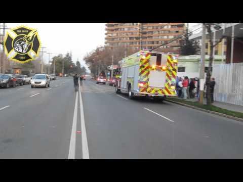 LLEGADA RX 14  A SU CUARTEL FIREPHOTO CHILE
