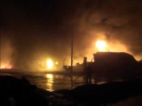 17 de Julio de 2012 / Incendio parque Industial en Rio Grande / Tierra del Fuego en Argentina