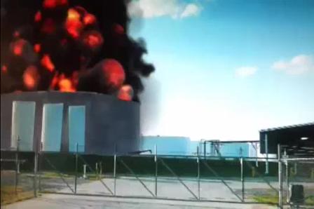 Explosión de Tanque captada en Vídeo