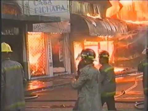 Incendio Histórico del año 1999 / Incendio afecta varios Comercios  / Bomba Talca, Chile / Vídeo Destacado de La Hermandad de Bomberos