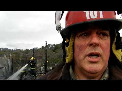 Ardió el Cuartel de Bomberos Voluntarios de Meliquina