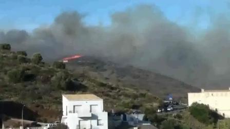 Tragedia en Incendio Forestal / Franceses saltan de acantilado por incendio forestal; dos mueren / Portbou en España / Vídeo Destacado de La Hermandad de Bomberos