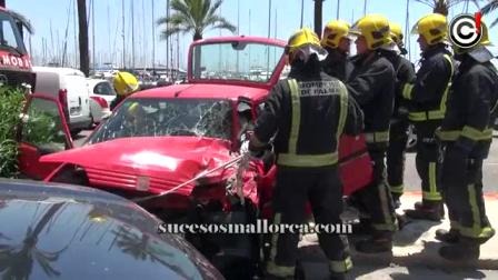 11 de Agosto de 2012 / Rescate Vehicular / Coque con dos personas heridas / Palma de Mallorca, España