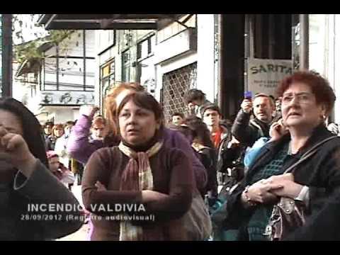 CHILE INCENDIO GALERÍA NASS - Valdivia (Registro Completo)  / Vídeo Destacado de La Hermandad de Bomberos