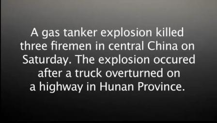 07 de Octubre de 2012 / Explosión de Cisterna de Gas en China mata a tres Bomberos / Vídeo Destacado de La Hermandad de Bomberos