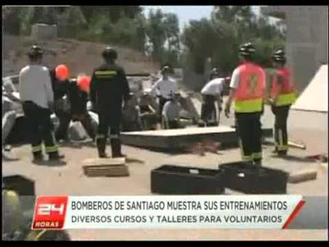 Cuerpo de Bomberos de Santiago mostró su campo de entrenamiento - Chile