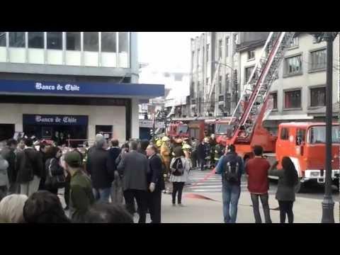 CHILE Incendio Galeria Nass (Valdivia) / Vídeo Destacado de La Hermandad de Bomberos