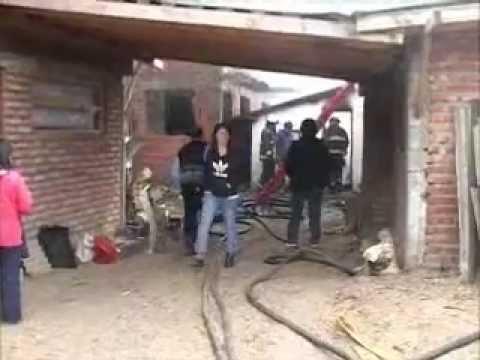 Incendio en barrio Irigoyen, el Bolson