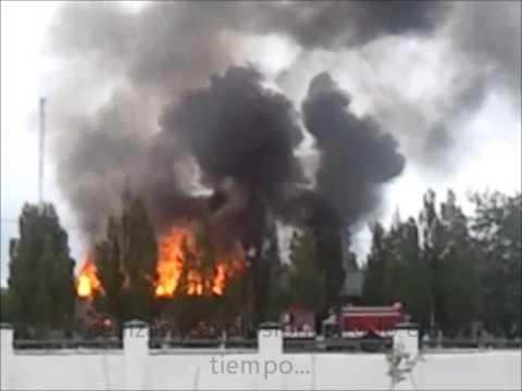 incendio. Regimiento Rio Gallegos.
