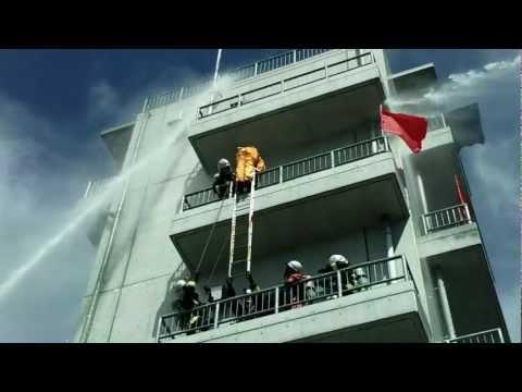 Entrenamiento / Operaciones de rescate de Piso 5 en Incendio de Edificio / Japon