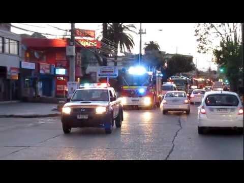 Llegada Unidad 11 - 1ra Compañia de Bomberos Quilpue - Chile