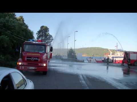 Recepción de Carro Camiva Magirus por las compañías hermanas de Corral - Chile