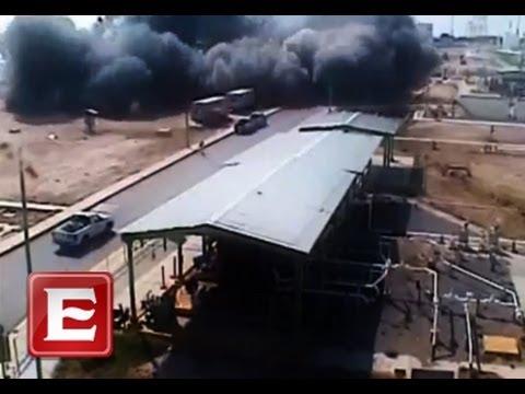 La explosión de Pemex en Reynosa, captada en video