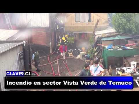 Incendio en sector Vista Verde de Temuco, Chile /  Vídeo Destacado de La Hermandad de Bomberos