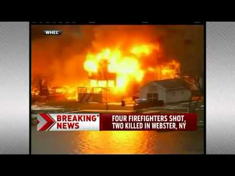Asesinan Dos Bomberos en Incendio en Webster, New York / Estados Unidos