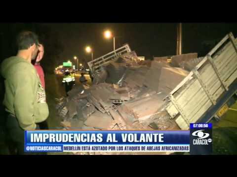 15 de enero de 2013 / Ambulancia con bebé a bordo se volcó en Bogotá / Colombia