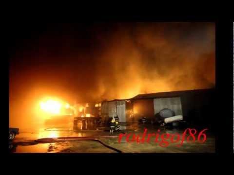 Incendio de Parque Industrial de Rio Grande / Homenaje a Bomberos Voluntarios Rio Grande / Rio Gran…