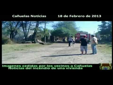 TRES BOMBEROS HERIDOS POR EXPLOSIÓN DE GARRAFA / INCENDIO ESTRUCTURAL EN BARRIO 1 DE MAYO, CALLE NAZCA ENTRE PASTEUR Y 20 DE JUNIO / CAÑUELAS, BUENOS AIRES EN ARGENTINA
