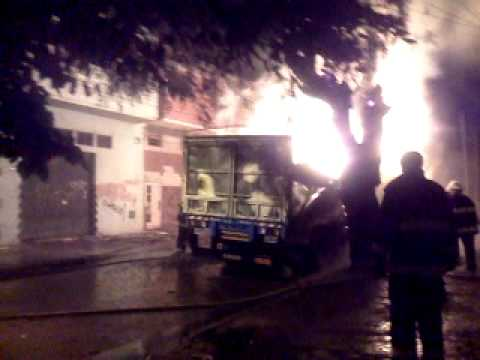 15 de Marzo de 2012 / Incendio Camion de Carga / San Martín, Buenos Aires en Argentina