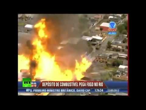 GRAN INCENDIO DE TANQUES DE COMBUSTIBLE EN RIO DE JANEIRO / BRASIL