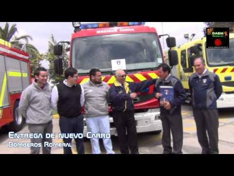 Entrega de Carro de bomberos. - Chile