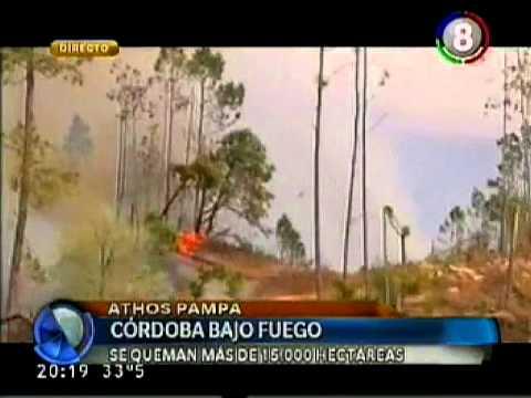 Incendio en las sierras de Córdoba - Athos Pampa (Teleocho)