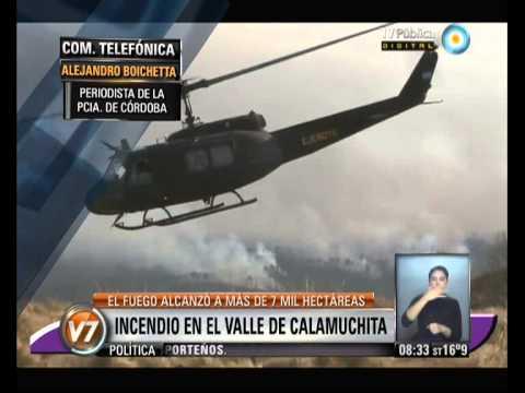 INCENDIO EN VILLA ALPINA / INCENDIOS FORESTALES EN CÓRDOBA 2013, ARGENTINA