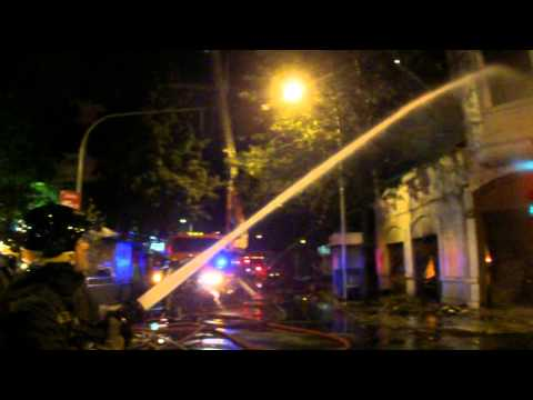 3ra. Alarma de Incendio C.B.S Tienda Corona. S.F.D 3rd Alarm. - Chile