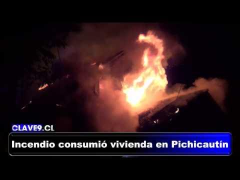 INCENDIO GENERALIZADO DE VIVIENDA EN SECTOR PICHICAUTÍN, TEMUCO EN CHILE / Vídeo Destacado de La Hermandad de Bomberos
