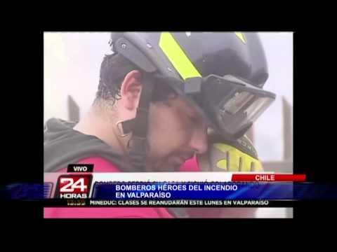 Chile: bomberos se convierten en héroes tras incendio de Valparaíso