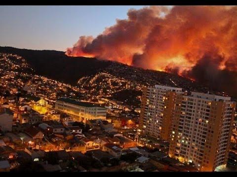 Impresionante Incendio en Valparaíso, Chile 12-04-2014