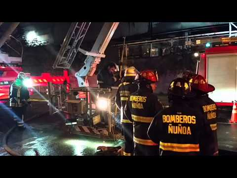 Incendio Homecenter Ñuñoa HD 28/08/2014 - Chile