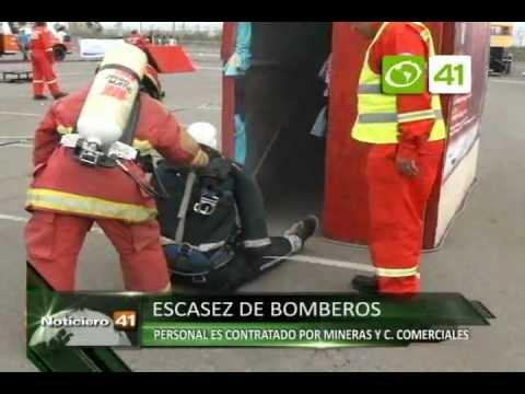 15.12.11/ Personal de bomberos es contratado por mineras y centros comerciales - Trujillo / PERÚ