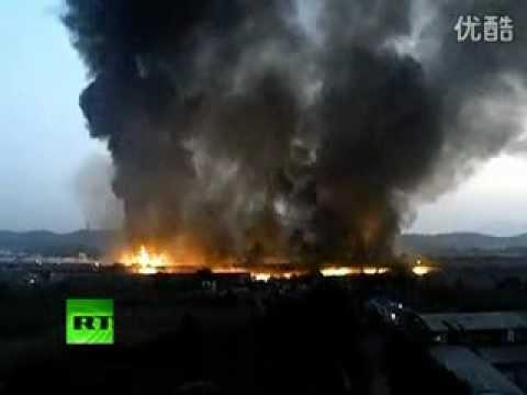 China: Al menos 20 muertos en un incendio provocado por el choque de dos camiones