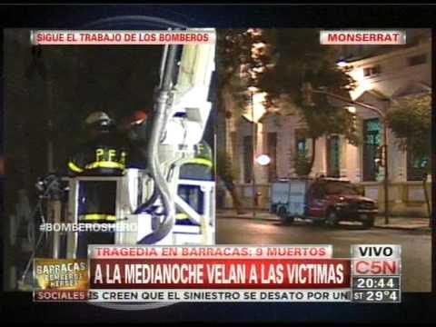 TRAGEDIA: INCENDIO Y DERRUMBE DE DEPOSITO EN EL BARRIO DE BARRACAS - BUENOS AIRES EN ARGENTINA / Vídeo Destacado de La Hermandad de Bomberos