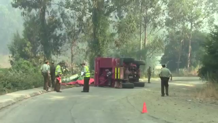 FATAL ACCIDENTE DE BOMBEROS EN COLLIPULLI - CHILE