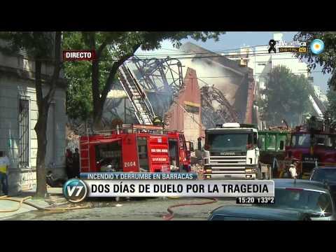 TRAGEDIA: INCENDIO Y DERRUMBE DE DEPOSITO DEL BARRIO DE BARRACAS - BUENOS AIRES EN ARGENTINA / Vídeo Destacado de La Hermandad de Bomberos