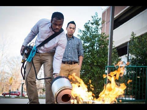 extintor de incendios que apagar incendios con ondas de sonido.