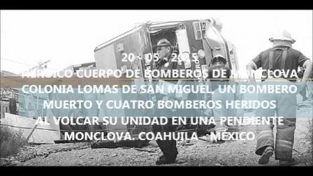 FUNERAL DE BOMBERO DE MONCLOVA - COAHUILA, MÉXICO