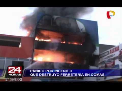 27 DE ENERO 2015 - INCENDIO EN FABRICA DE PINTURAS - COMAS EN PERÚ