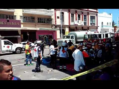 SIMULACRO DE INCENDIO EN EDIFICIO - VERACRUZ, MÉXICO