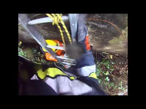 Rescate de Can en Lecho de Rio, Nogales. (Primera Persona) - Chile