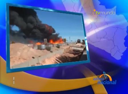 EXPLOSIÓN DE CAMIÓN CISTERNA DE GAS EN LA VARIANTE DE UCHUMAYO QUE DEJO CUATRO MUERTOS Y TRES BOMBEROS GRAVEMENTE HERIDOS - AREQUIPA EN PERÚ