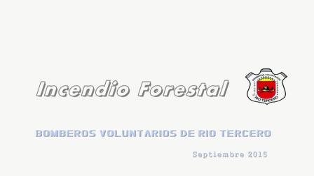 DRONE: INCENDIO FORESTAL, CUERPO DE BOMBEROS VOLUNTARIOS DE RÍO TERCERO - CÓRDOBA EN ARGENTINA