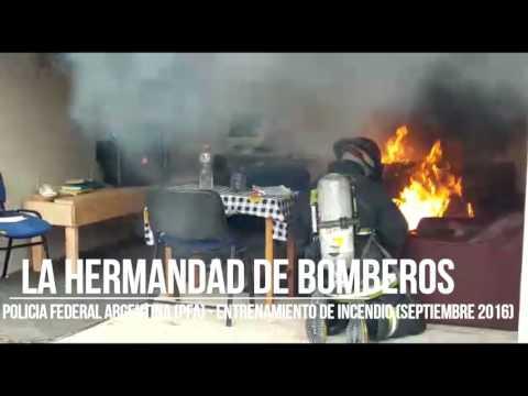 ENTRENAMIENTO BOMBEROS POLICIA FEDERAL ARGENTINA